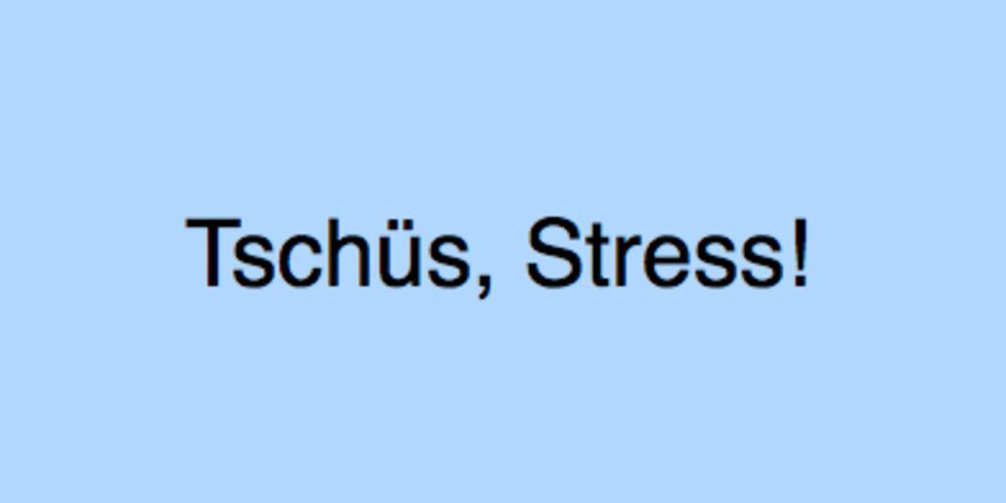 AL Tschüs Stress Teaser