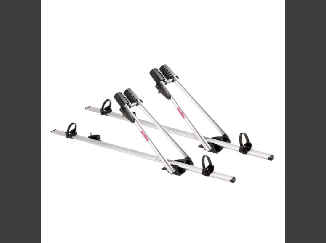 MB Fahrradträger Marktübersicht Dachträger 2016 Mont Blanc RoofRide AluPlus Twin / Axis Silver