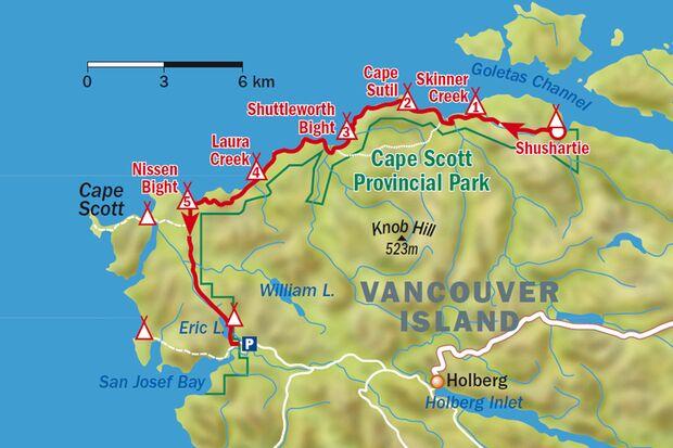 OD-0113-Kanada-NorthCoastTrail Lage Etappen Karte (jpg)