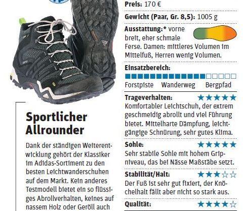 OD 0514 Leichtwanderstiefel Test Schuhe Testbrief 3:2