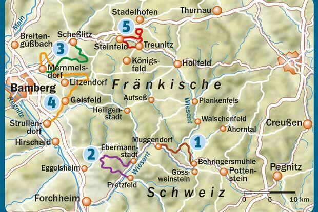 OD 0815 Bierwandern Oberfranken Map