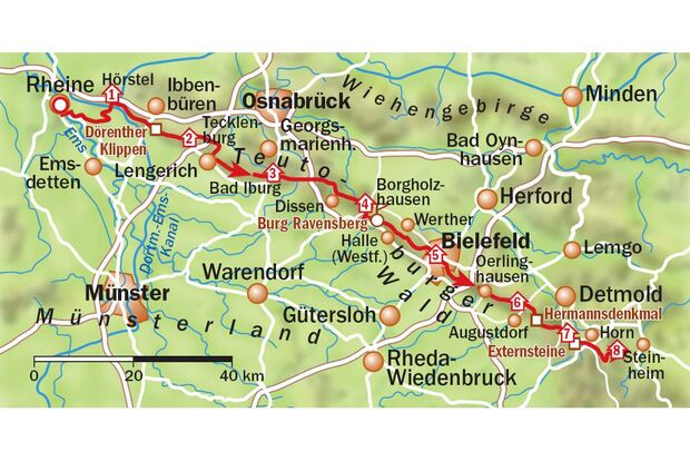 OD 0911 Traumpfade Hermannsweg karte
