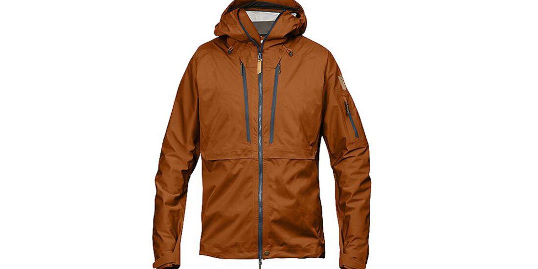 OD 1115 3L-Jacken Dreilagen Hardshells Funktionsjacken Test Fjällräven Keb-Ecoshell Jacket