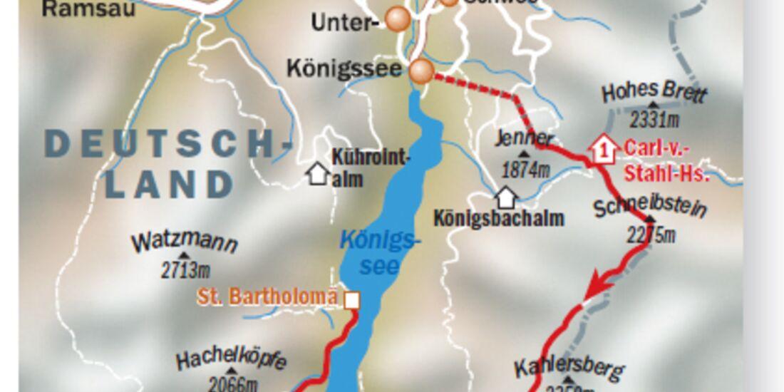 OD 2007 Königssee Karte Tourenverlauf