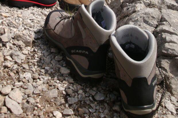 OD Bergstiefeltest 2010 Fels Ferse Wanderschuh