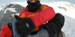 OD Pulka Norwegen Jotunheimen Socke Winter Kälte