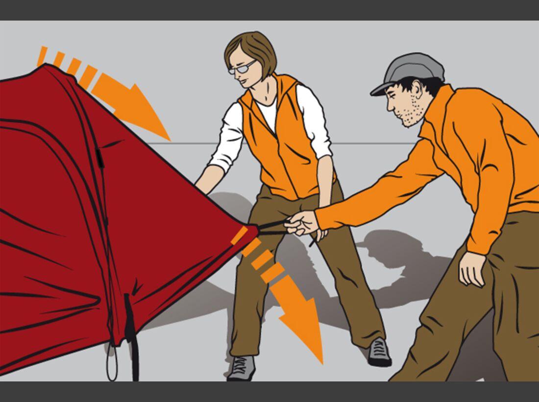 OD Tipps Zelt aufrichten