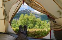 OD Trekking Zelt Zelten Camping Zelten Wildcampen Campingplatz Innenraum