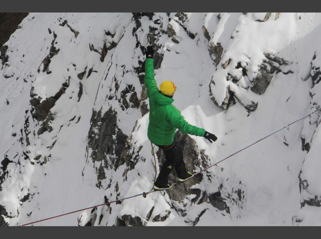 Slackline-Höhenweltrekord in Peru 11